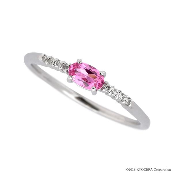 ピンクスピネルリング 指輪 0.20ctUP オーバル ハーフエタニティ風 プラチナ プレゼント 天然石 京セラ