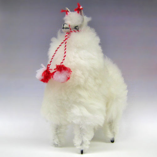 Peru from alpaca stuffed animals all Paquita height 20 cm (natural Alpaca hair use) 10P13Dec14