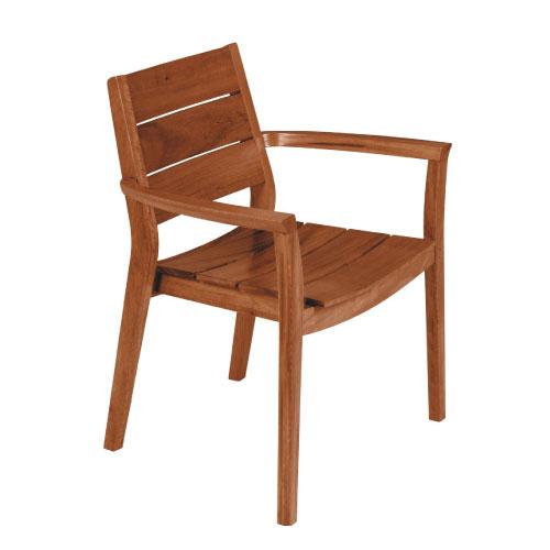 TRAMONTINA 木製 アームチェア 約55cm×66cm×82cm TOSCANA 【あす楽対応】【木製 家具】【ガーデン 家具】【ガーデン チェア】10P04Mar17
