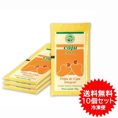 【送料無料】カシューフルーツパルプ フルッタ 10パック(4kg) 冷凍業務用お買得セット 【あす楽対応】