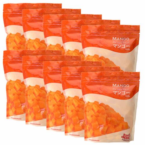 【送料無料】冷凍マンゴー(カットマンゴー) 500g(5個分) トロピカルマリア×10袋(5kg) トロピカルマリア【あす楽対応】【冷凍 マンゴー】【マンゴーチャンク】