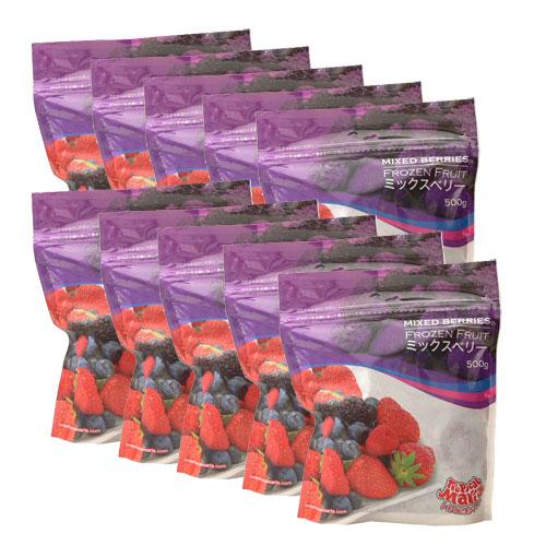 【送料無料】【10個セット】ミックスベリー(苺・ブルーベリー・ブラックベリー・ラズベリー) 冷凍 500g×10袋 トロピカルマリア【あす楽対応】