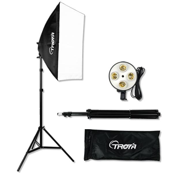 【1年保証】4灯スタジオライト 50×70ソフトボックスス タンド 撮影照明セット 写真撮影 照明機材キット物撮り スタンド 撮影用 フォトスタジオ 組み立て説明書付き■427