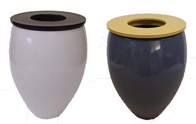 【良品 アウトレットセール】フランス製花瓶 [413-0944] フラワーベース 飾り壺 かびん 花 陶器 おしゃれ 可愛い (サイズ (胴)直径26.0×高さ38.0×口内径17.0cm)