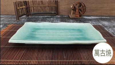 日本製の盆栽鉢 信憑 今では作っている所もほとんどなくなりました貴重な品です セール 和鉢 盆栽鉢 山野草鉢 980-0509 植木鉢 萬古焼 5%OFF 日本製 和風 横28.0×奥行19.0×高さ3.0cm サイズ 陶器