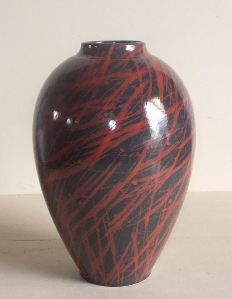 【アウトレットセール】フランス製花瓶 [407-4731-796] フラワーベース 飾り壺 かびん 花 陶器 おしゃれ 可愛い (サイズ 直径26.5×高さ39.0cm)