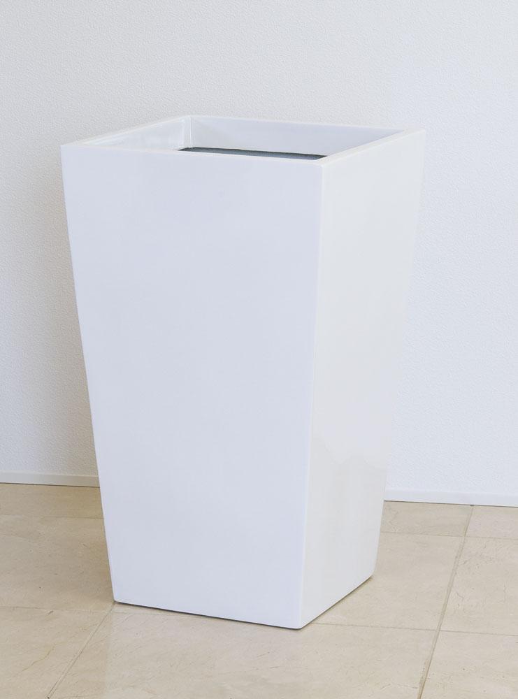 ファイバーグラス プランター [960-0030-1] スクエアーポットL型 L-35型W 植木鉢 鉢カバー シンプル おしゃれ 大型 花 ガーデニング ※沖縄・離島への発送は不可となります※(サイズ 横35.0×奥行35.0×高さ57.0cm)