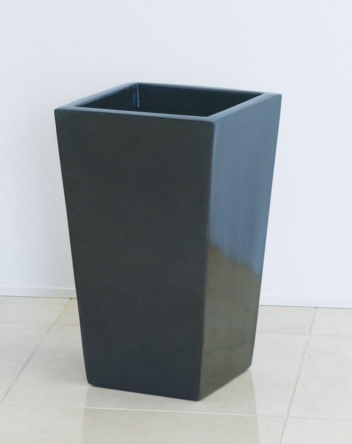 ファイバーグラス プランター [960-0029-2] スクエアーポットL型 L-25型MGR 植木鉢 鉢カバー シンプル おしゃれ 大型 花 ガーデニング※沖縄・離島への発送は不可となります※ (サイズ 横25.0×奥行25.0×高さ40.0cm)