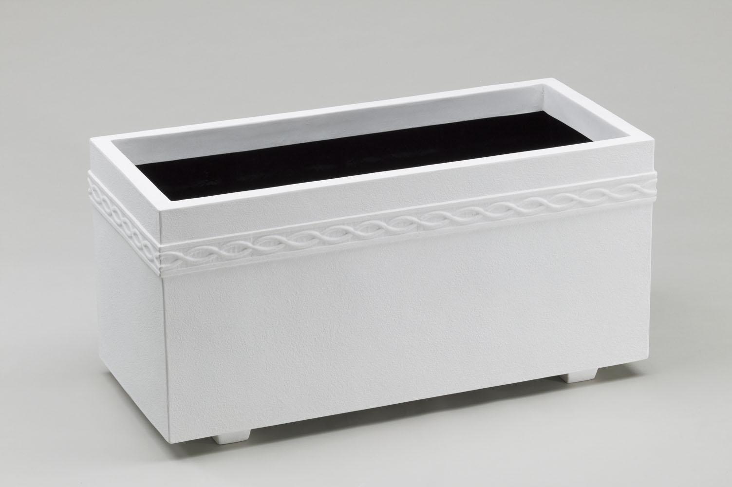 ファイバーグラス プランター [960-0079] ホワイトプランターWPL WPL-100型W 植木鉢 鉢カバー シンプル おしゃれ 大型 花 ガーデニング (サイズ 横100.0×奥行45.0×高さ49.5cm)