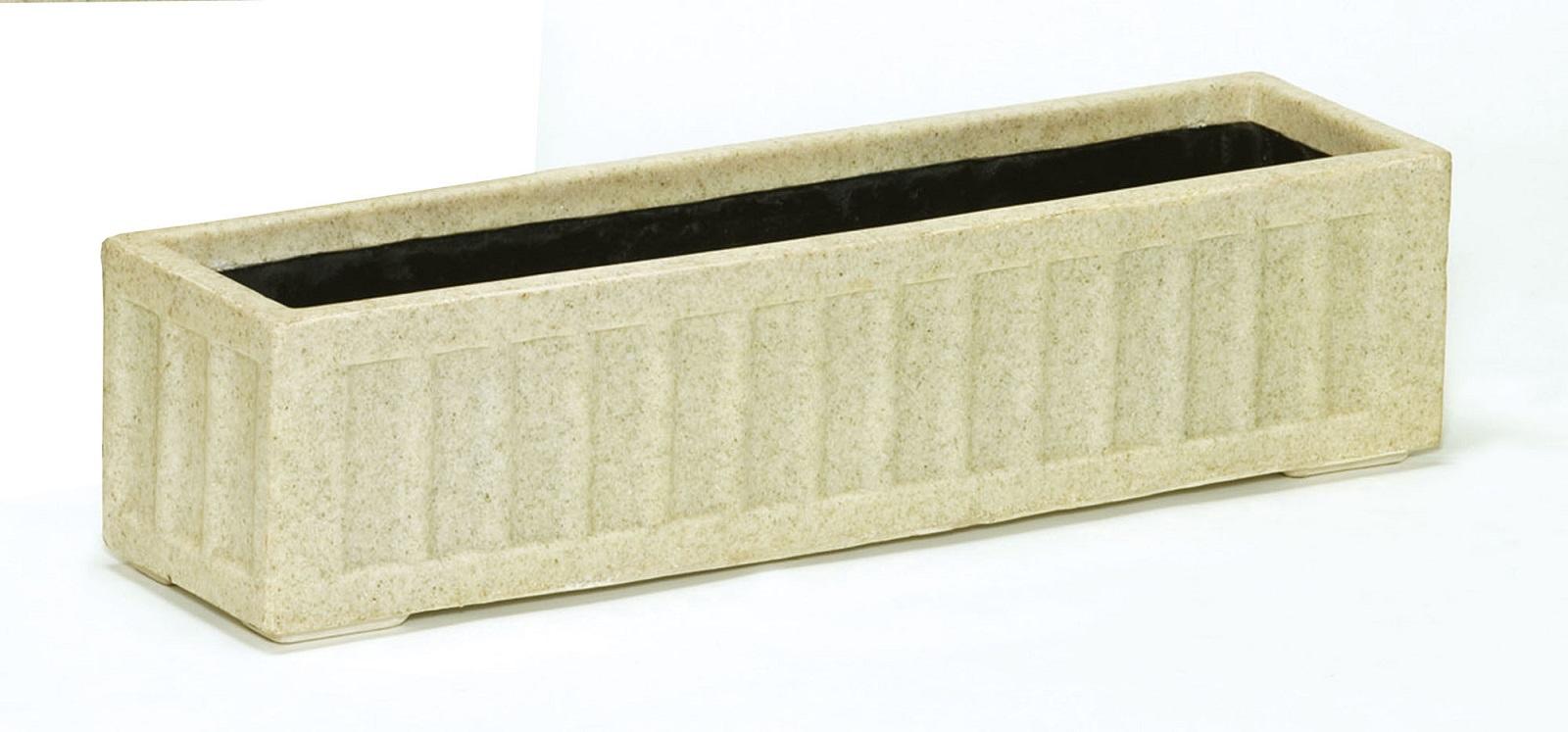 ファイバーグラス プランター [960-0101] 御影プランターS-90型御影 植木鉢 鉢カバー シンプル おしゃれ 大型 花 ガーデニング (サイズ 横90.0×奥行22.0×高さ22.0cm)