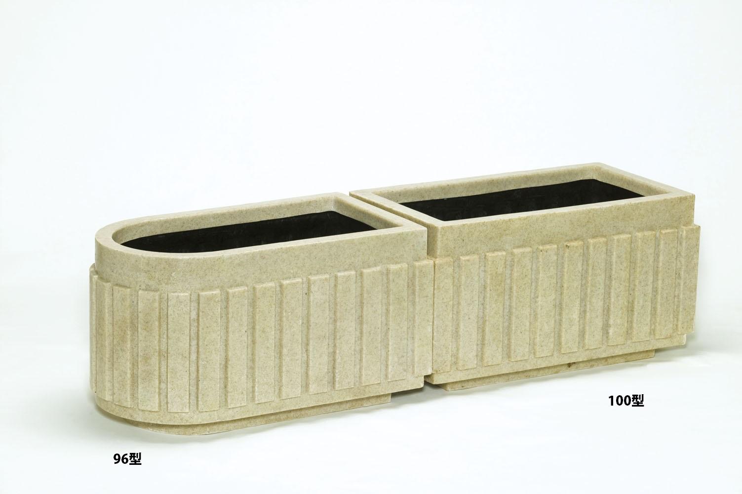 【【代引不可】上質な質感で高級感のあるシリーズ。シンプルデザインで植物を引き立て、空間に調和します。 ファイバーグラス プランター [960-0103] 御影システムプランター 100型御影 植木鉢 鉢カバー シンプル おしゃれ 大型 花 ガーデニング (サイズ 横100.0×奥行54.0×高さ54.0cm)