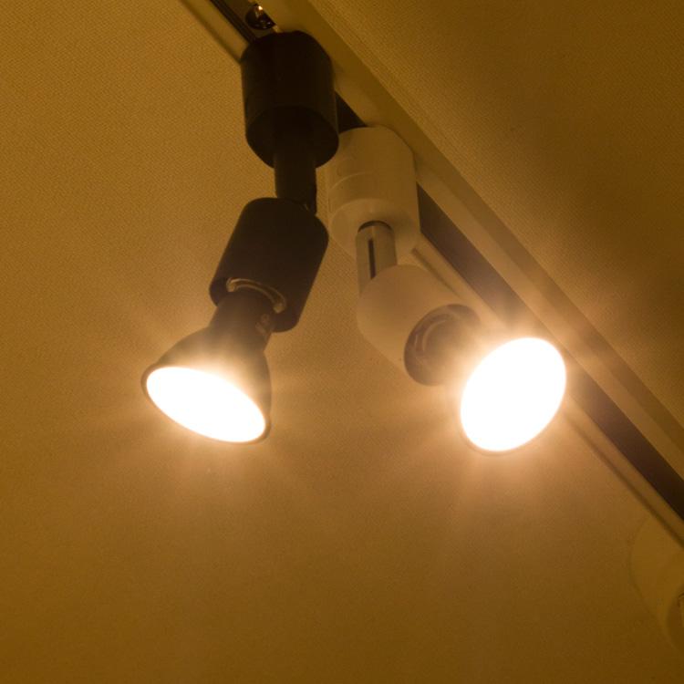 ダクトレール スポットライト E11【LED電球付き】50W相当 ハロゲンランプ 天井照明 ライティングレール ライトレール 電球色 昼光色 黒 白 レールライト シーリングライト 照明器具 間接照明 配線ダクトレール用 led照明 長寿命 省エネ 節電