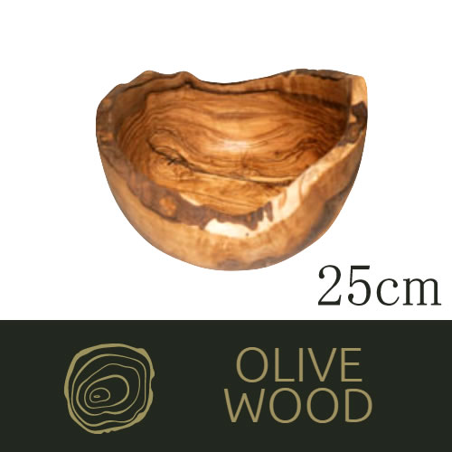 ドリス・オリーブ ラフティックフルーツボール [25cm]使いこむ程味わいが増す 上質な北アフリカ産の無塗装のラスティカルなキッチンウェア(EBM18-1)(1375-01)