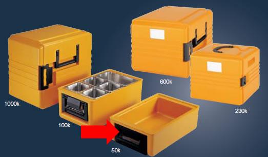 送料無料 冷・温蔵庫 料理の温度や鮮度を維持しながら、保管・搬送! リーバサーモポート 50K(EBM18-1)(570-01)