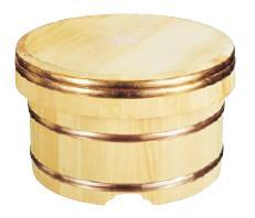 昔から使われているおひつ!ご飯を更に美味しく♪ 江戸びつ (サワラ) 21cm 5合用 (7-0655-1402)