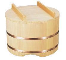 昔から使われているおひつ!ご飯を更に美味しく♪ のせふたおひつ (サワラ) 30cm (1.5升用) (7-0655-1305)