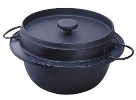 ごはん鍋 かまどで炊いたようなふっくらごはんとパリパリのおこげを!炊飯鍋 岩鋳 鋳鉄ごはん鍋 21-085 3合炊 (7-0656-0302)