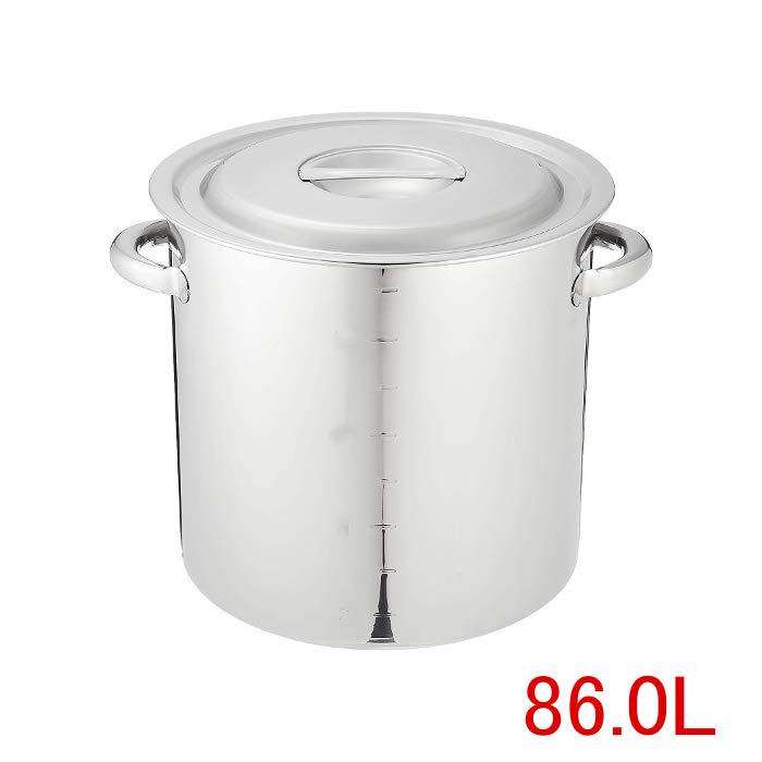 人気大割引 EBM 18-8ステンレス 寸胴鍋(目盛付) パイプハンドル付・48cm 86L (EBM20-1)(35-02), アムマックス adde9344