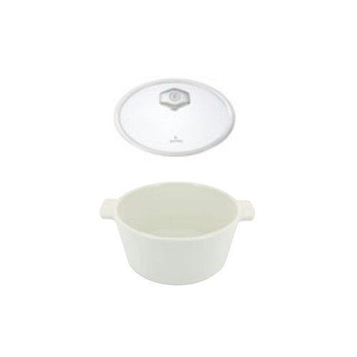 オーブン・電子レンジ・IH対応 レヴォリューション2 ラウンドココット 26cm 649857(容量3.4L)ガラス蓋付き(EBM20-1)(120-04)