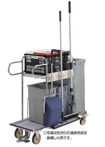 ※代引不可 送料無料 清掃用品 業務用 清掃用カート 大型の商業・公共施設 プロテックツールカートマルチS(山崎産業)[C232-000X-MB]