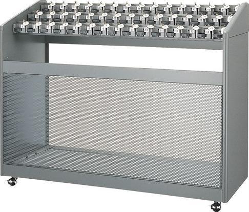 ※代引不可※受注生産品 送料無料 施設用品・傘立て 雨天用品 キーロック・鍵付 45本立 アンブラーNLB 45(鍵付) (山崎産業)[YA-58L-ID]