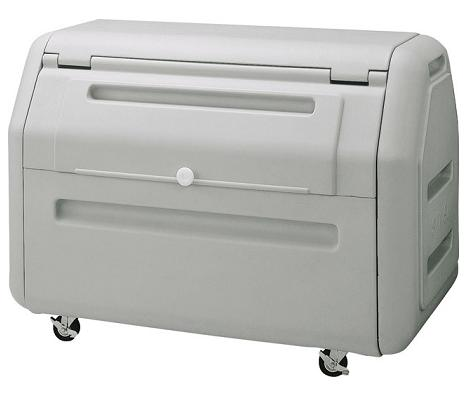 ※代引不可 送料無料 施設用品 ゴミ保管庫 ホテル・マンション・工場など ダストボックス#400 (容量約410L) (山崎産業)[YD-134L-PC]