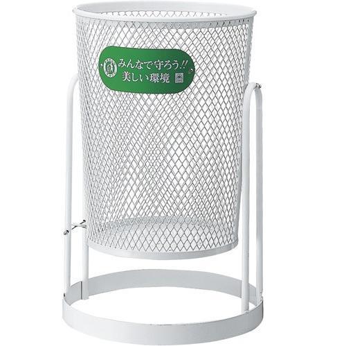 ※代引不可 送料無料 屑入れ・ゴミ箱 屋外用 一般ゴミ用 公園・遊園地 80L・回転式 パークくずいれ80回転式 (山崎産業)[YD-27C-IJ]