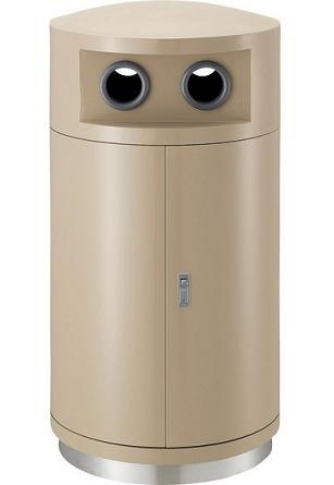※代引不可※受注生産品約1ヶ月 送料無料 ゴミ箱 屋外用 ハイスカイダスト分別MN L1(ビン・カン・ペットボトルなど) (山崎産業)[YW-151C-2]