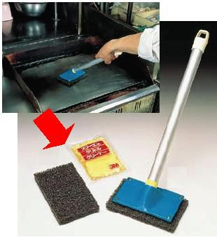 清掃用品・掃除道具 鉄板用 3M グリドル クリーナー (40パック入) (7-0943-0701)
