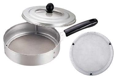本格派焙煎器!時間が短く、手軽に焙煎できます♪ 手煎り焙煎器 (煎り網) 丸型 (φ208×H98、全長360) (7-0495-0101)