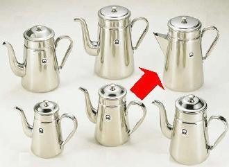 【送料無料】【コーヒーポット】18-8ステンレス製 コーヒーポット ♯18三角口 電磁調理器用 4,000cc (6-0809-0301)
