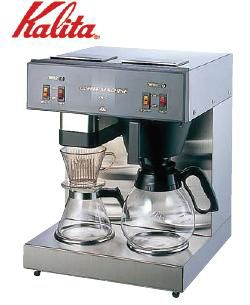 コーヒーメーカー 送料無料 これ1台で大小2台分の働き!1~15杯の抽出が可能☆★ Kalita カリタ コーヒーマシーン KW-17 (6-0795-0601)