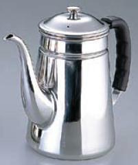 【コーヒーポット】【電磁調理器対応!】18-8ステンレス製 プラハンドル コーヒーポット ♯16 細口 3,000cc (6-0809-1201)