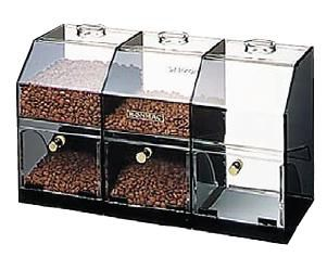 コーヒーケース 送料無料 BONMAC ボンマック コーヒーケース S-3 容量約1kg×3 (6-0811-1101)