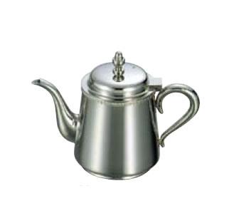 送料無料 卓上用品 ティー・お茶・紅茶用品 ポット ステンレス製 UK18-8 菊渕ティーポット 5人用(670cc)(EBM18-1)(1075-01)