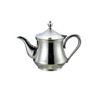 送料無料 卓上用品 ティー・お茶・紅茶用品 ポット ステンレス製 18-8 ダイヤティーポット 5人用500cc(EBM18-1)(1075-09)