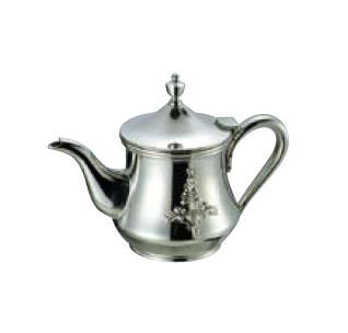 送料無料 卓上用品 ティー・お茶・紅茶用品 ポット ステンレス製 18-8 ダイヤローズティーポット 5人用500cc(EBM18-1)(1075-10)