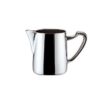 送料無料 卓上用品 ティー・お茶・紅茶用品 ミルク・容器・ポット ステンレス製 UK18-8 ロイヤルホットミルクポット大 410cc(EBM18-1)(1065-16)