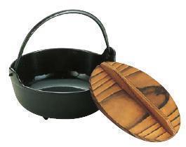 いろり鍋30cm 季節鍋・よせ鍋 イシガキ いろり鍋 (鉄製 内面黒ホーロー仕上) 30cm (7-2013-0506)
