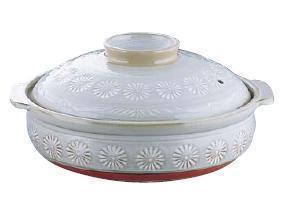 季節鍋・よせ鍋 萬古焼 土鍋30cm 三島 土鍋 S-505 10号 30cm (6-1933-0105)