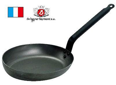 送料無料 フライパン (冷めにくく、丈夫!) 40cm デバイヤー 鉄 小判フライパン 5111 40cm (6-0098-1104)
