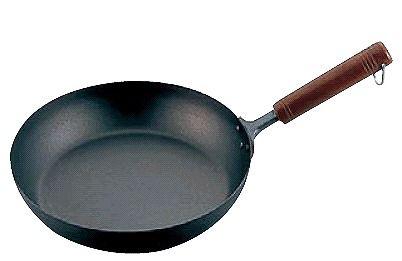 フライパン (軽くてお料理ラクラク♪) 24cm 純チタン 木柄フライパン 24cm (6-0104-0802)