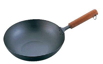 フライパン 送料無料 (軽くてお料理ラクラク♪) 30cm 純チタン 木柄いため鍋 30cm (6-0104-0903)
