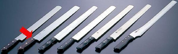 包丁・ナイフ 常次 カステラ包丁 (割込 白2号鋼) 39cm (7-0327-0204)