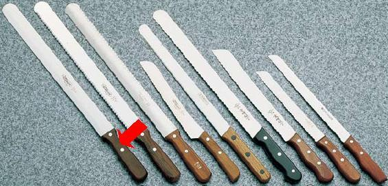包丁・ナイフ ゾーリンゲン(ステンレス製) ノコ刃ナイフ Nr149 41cm (7-0324-1202)