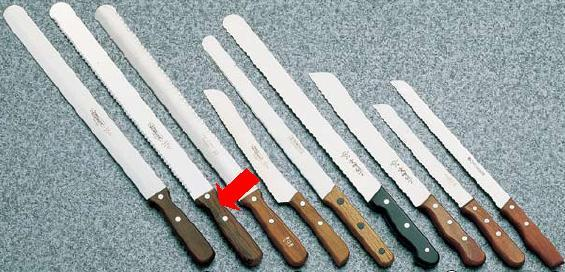 包丁・ナイフ ゾーリンゲン(ステンレス製) 波刃ナイフ Nr159 41cm (7-0324-1302)