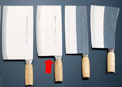 包丁・ナイフ 陳枝記 中華包丁 ボーンチョッパー(骨刀1号) 230×109mm (7-0321-2901)