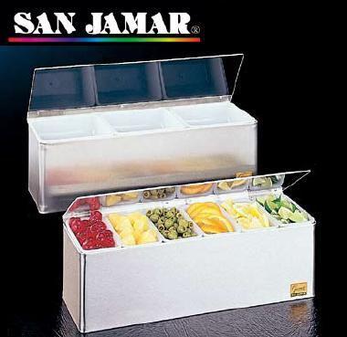 送料無料 薬味・調味料入 保存容器・キッチンポット サンジャマー コンジメント ディスペンサー B6186L 6ヶ入(460×146×H150mm)(6-0205-0102)