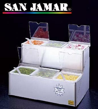 薬味・調味料入 保存容器・キッチンポット サンジャマー コンジメント ディスペンサー B6706INL(460×305×H265mm)(7-0212-0301)