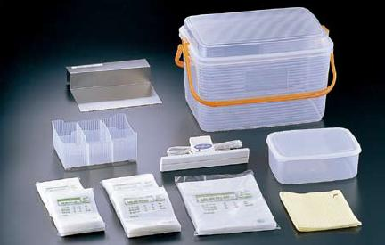検食用袋 送料無料 ※納期約1週間 集団給食・飲食店などに 密封式検食袋 基本セット HXS-010 (7-0207-1401)